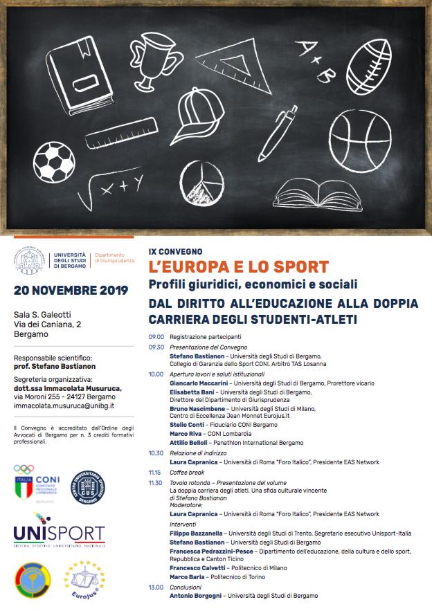 Panathlon Bergamo L'Europa e lo Sport