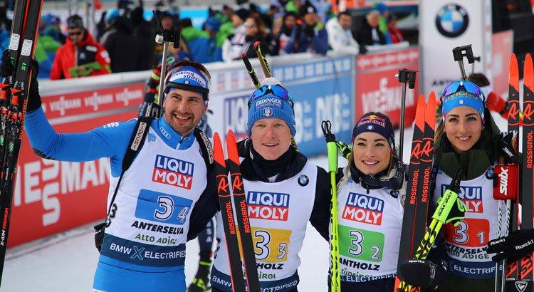Mondiali di Biathlon: LA STEFFETTA MISTA ITALIANA E' D'ARGENTO