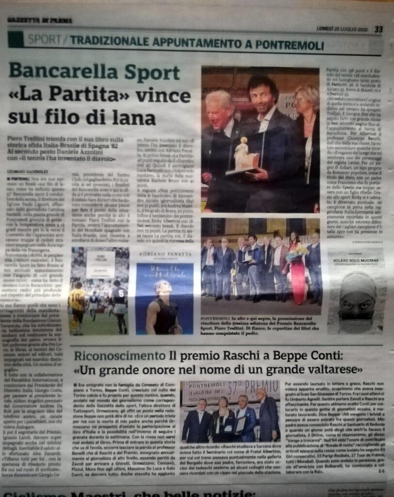 La Gazzetta di Parma dedica una pagina al
