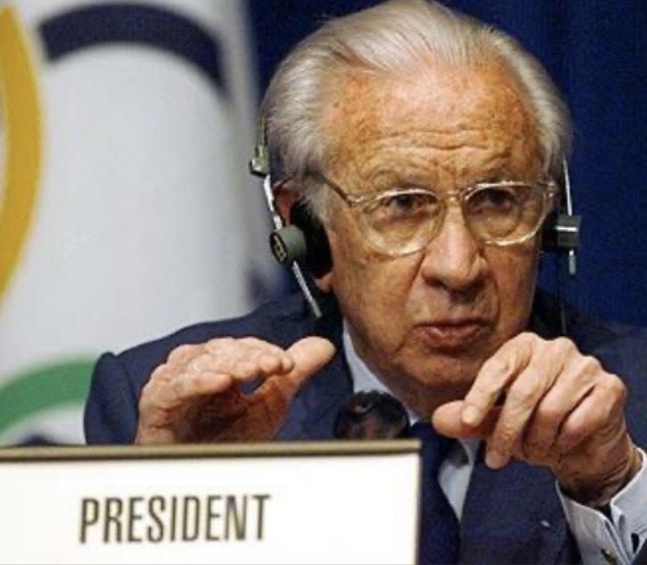 Il C.I. O.  di Losanna non dimentica un presidente longevo e innovativo