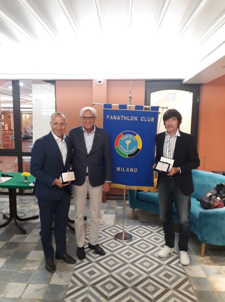 GIANNI BUGNO E CORDIANO DAGNONI AL PANATHLON CLUB MILANO