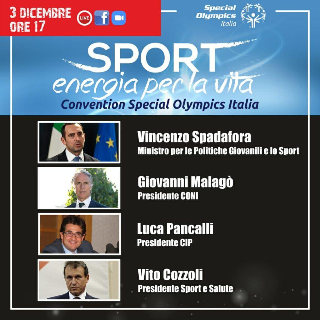 Convention Special Olympics -Oggi 3 Dicembre 2020, ore 17.00