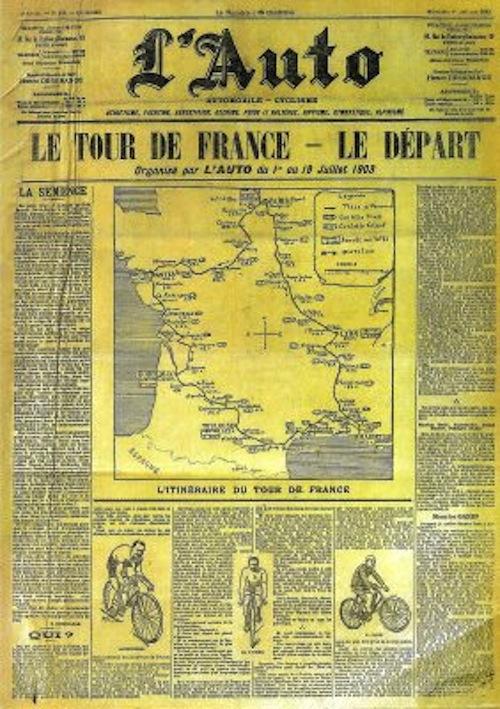1899 NASCE IL TOUR DE FRANCE...DELLE AUTO