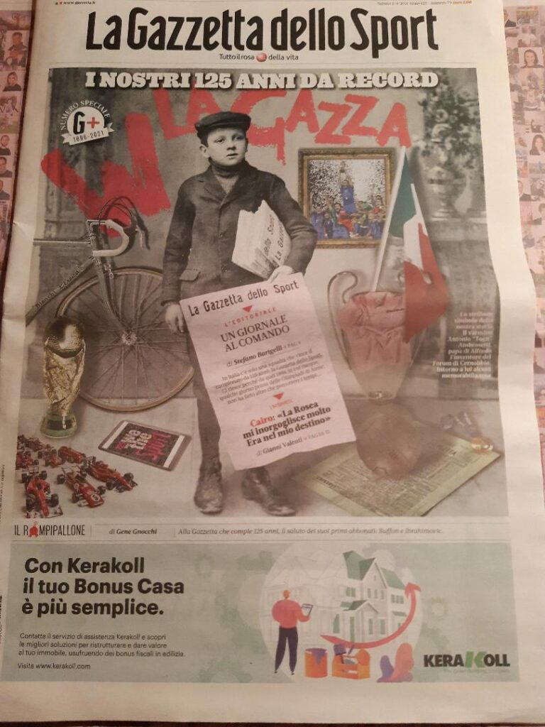 Come oggi 125 anni fa nasceva la Gazzetta dello Sport