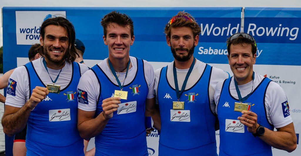 Canottaggio - Sabaudia. con 14 medaglie l'Italia vince il medagliere per nazioni
