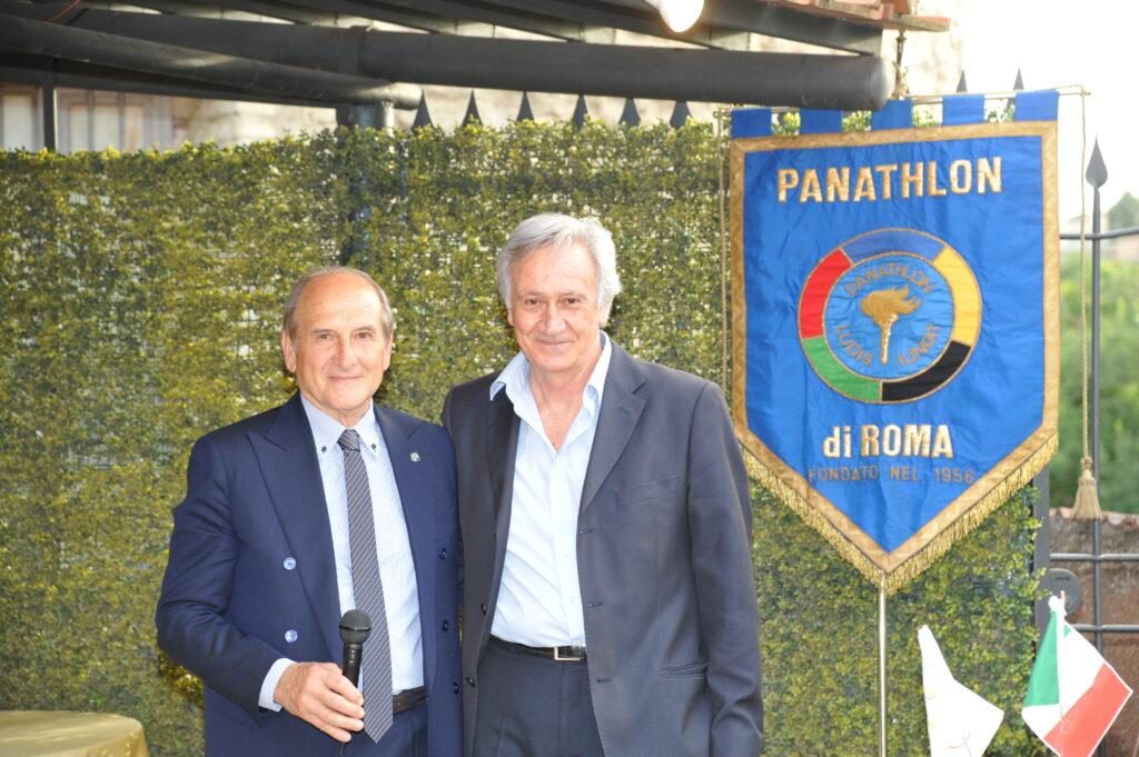Leno Chisci e Giampiero Cantarini si ritrovano 50 anni dopo al Panathlon