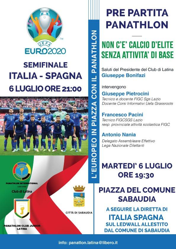 Il Panathlon di Latina con il Club Junior continuano ad accompagnare il cammino azzurro  nei Campionato Europeo di calcio.